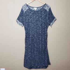 New Liz Lange Maternity Knit Dress Blue XXL Plus